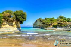 Channel of Love (Canal d'amour) - Corfu Love Canal, Corfu Beaches, Cool Places To Visit, Places To Go, Corfu Island, Places In Greece, Destinations, Corfu Greece, Swimming Pools