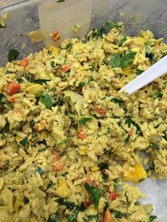 Curried Rice Salad made with &RicelandFoodss rice by @diningwithdeb #hospitalityroom #AWBU @visitrogers