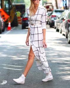 Inspiratie: 20 x de mooiste lente-outfits met witte sneakers   NSMBL.nl