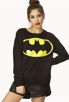 Classic Batman Sweatshirt   FOREVER21 Nananananana need this! #Batman #Sweater #ForeverHoliday #WishPinWin