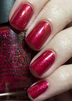O.P.I. Crimson Carol Swatch
