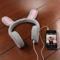music, headphones, bunny, cute