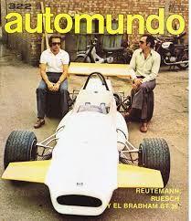1971 Automundo Magazine Carlos Reutemann & Carlos Ruesch, Brabham BT 34 Formula 2