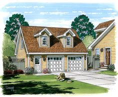 Garage Plan 30030 | Cape Cod   Cottage   Country   Farmhouse  Saltbox    Plan with 687 Sq. Ft., 1 Bedrooms, 1 Bathrooms,