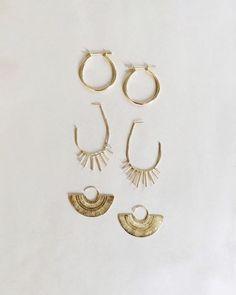 Gold earrings #goldearrings