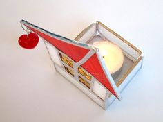 Votive Candle Holder Stained Glass Red Roof от FleetingStillness