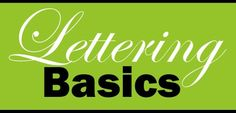 Intro to Typography - Lettering Basics Lesson Plan