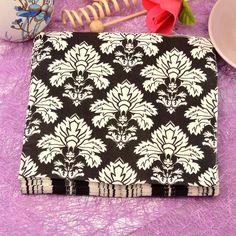 20 unids/lote tótem blanco y Negro clásico de papel Servilleta Pañuelos de papel servilleta de mesa de la cena de boda wedding party supplies