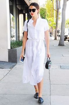 Le Fashion: Model-Off-Duty Style: See Lily Aldridge's Take On The Shirtdress