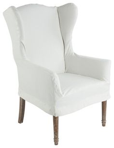 Maddox Slipcovered Dining Chair or office chair from White from