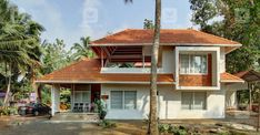 Village Home. Architect Own Home. Traditional Home Plan.Home Plans Kerala. American Home Design, Indian Home Design, Kerala Traditional House, Traditional House Plans, Tropical House Design, Kerala House Design, Village House Design, Village Houses, Country Home Exteriors