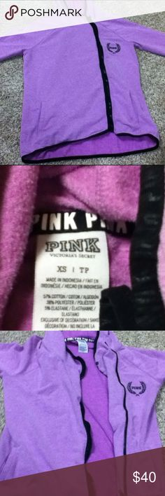 Pink Victoria's Secret xs high low zip Perfect condition!! Wore maybe twice!!! I love this it's just too small for me:((((((( cheaper on mer aci!!!! PINK Victoria's Secret Sweaters