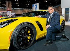 Cleveland Institute of Art graduate Jose Gonzalez (Class of 2000), came to the Cleveland Auto Show to teach an automotive design workshop and show a group of current and prospective students the flashy new Corvette he designed.