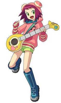 """Singer from Megaman Starforce 1, 2, and 3: Sonia Strumm. Her """"Wizard"""" is Lyra from Planet FM"""