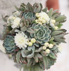 I've noticed more and more brides using plants in addition to cut flowers in their weddings and, in particular, succulents. I love these hardy indoor/outdoor plants – their unique textures, colors and shapes add visual interest, especially to a winter wedding. Here are some 5 ways to incorporate them into your wedding day: 1. Bridal...