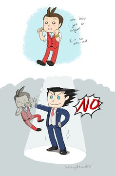 This is the most accurate description of AA5 I have ever seen.  (ace attorney 5 by ShinyVulpix.deviantart.com)