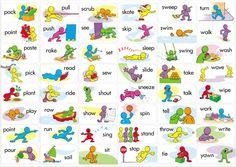 Resultado de imagen para action verbs list for kids