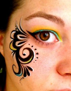 Face Image Painting Birthday Party | tribal swirl glam event birthday face painting party :: Your Total ...