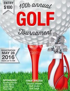 Vector illustration of golf tournament invitation layout or poster golf fundraiser tournament template royalty free stock vector art stopboris Choice Image
