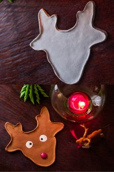 Simple Christmas Crafts that anyone can make. This post includes DIY's of Glass Bottle Candleholder, Clay Ornaments and Reindeer Clay Catchall gift idea. Easy Christmas Crafts, Simple Christmas, All Things Christmas, Diy Home Crafts, Decor Crafts, Easy Crafts, Crafts For Teens To Make, Diy For Teens, Diy Décoration