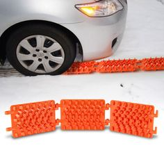 Help your car grip the ground in slippery situations with the Anti-Slipper Foldable Traction Mat. This traction mat makes it easy for your car to grip in the ground in conditions where it would otherwise slip, like in conditions involving rain, snow, mud, and sand. It features an adjustable angle that allows for use in inclined and rough surfaces and features a hexagonal honeycomb design that offers maximum friction.