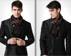 Kvalitný pánsky bavlnený šál - Vzor 14