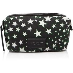 Marc Jacobs Large Biker Flocked Stars Print Cosmetic Case ($120) ❤ liked on Polyvore featuring beauty products, beauty accessories, bags & cases, purse makeup bag, marc jacobs makeup bag, travel toiletry case, marc jacobs and dop kit