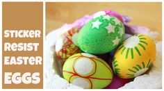 Easter Egg Decorating with Stickers and Sharpies