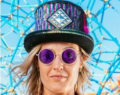burning man hand made accessories Free Shipping by Futura-hats one of a kind festival headpiece Steampunk top hat made to order