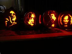 More lit. inspired pumpkins.  Wish I could create these Harry Potter images!