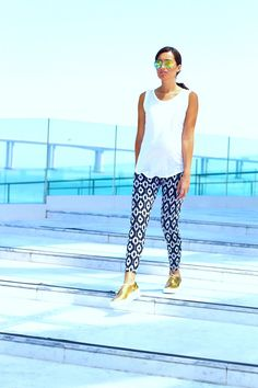 ♡♡ FUTURISTIC ♡♡ Leggings | STYLE LATELY -- Sunglasses/Creepers/Rings | ZARA -- Blouse | MANGO