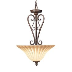 Woodbridge Lighting Avondale 2-light Rustic Iron Pendant (Avondale 2-light Rustic iron Pendant), Black (Glass)