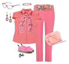 """""""Pink"""" by ynk24 ❤ liked on Polyvore featuring Love Moschino and Alexander McQueen"""