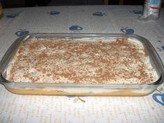 Ingredientes: 1/2 Litro de Leite 1 Pacote de Pudim Boca Doce 4 Ovos 1 Pacote de Natas Açucar Q.B. 1 Pacote de bolacha Maria Café Q.B. Can...
