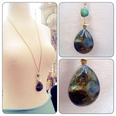 A personal favorite from my Etsy shop https://www.etsy.com/listing/261856189/labradorite-turquoise-brass-long