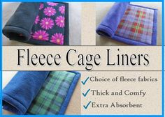 Fleece Cage Liners, Guinea pig cage liner uhaul pad, Bedding, Midwest cage liner, Critter nation liner, Request custom order for other sizes