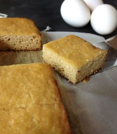 Paleo Cornbread Minus The Corn.....uses almond flour, coconut flour, coconut oil, almond milk, honey
