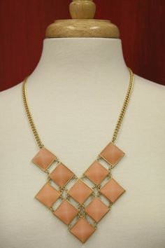 Ten Stone Peach Necklace