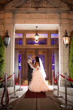 Night wedding photo at Monte Cristo Ballroom in Everett