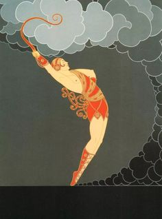 """The Dancer"" Fashion book plate. Art by Erté. (1892-1990)."