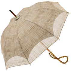 This beige umbrella is a simple alternative to an ordinary black one.