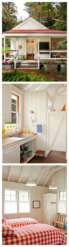 This happy tiny house clocks in at just 260 sq ft. Its bright and colorful design exudes a cheery atmosphere from all corners. | Tiny Homes