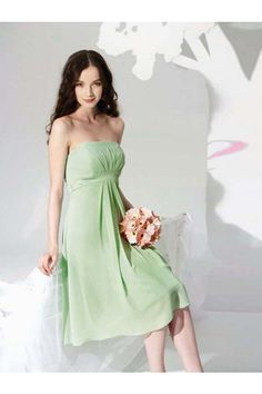 A-Line Halter Backless Knee-Length Elastic Satin Sleeveless Bridesmaid Dresses