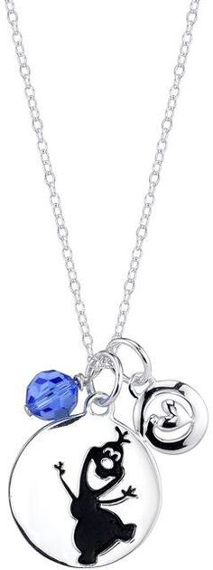 1d8706356 Disney Sterling Silver Frozen Olaf Pendant Necklace with 18-inch Cable Chain  Disney Jewelry,