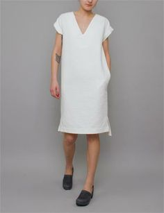 Creatures of Comfort Cameron Dress- Regent White