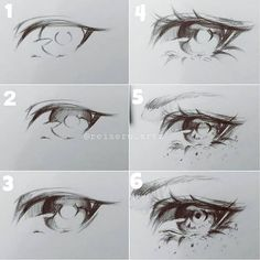 Eye drawing ideas and inspiration. Learn how you can draw eyes step by step. This tutorial is perfect for all art enthusiasts. Anime Drawings Sketches, Pencil Art Drawings, Anime Sketch, Pencil Sketching, Eye Sketch, Eye Drawings, Realistic Drawings, Eye Drawing Tutorials, Art Tutorials
