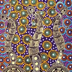 We are doing Aborigine's as our topic so this will be a really good picture for the art aspect! Aboriginal Patterns, Aboriginal Painting, Aboriginal Culture, Dot Painting, Indigenous Australian Art, Indigenous Art, Australian Aboriginals, Arte Popular, Native Art