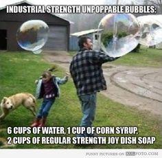 Homemade bubble fun!