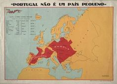 Portugal (extensão territorial das Colónias comparada com território da Europa).