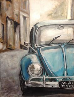 Something in my heart told me to wait for you. : Something in my heart told me to wait for you. Car Painting, Painting & Drawing, Collage 3d, Diy Canvas, Canvas Art, Carros Vw, Car Tattoos, Car Drawings, Art Cars